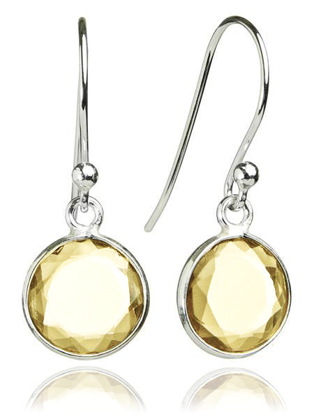 Hanging Puntino Earrings Citrine