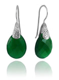 Sumatra Teardrop Earrings Green Onyx