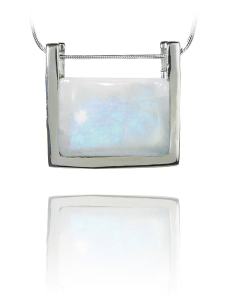 Small Rectangular Pendant Blue Topaz