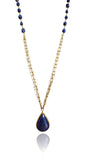 Milano Long Necklace with Teardrop Stone