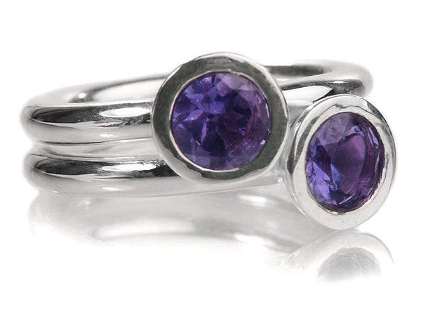 Two Stone Stacked Ring Iolite