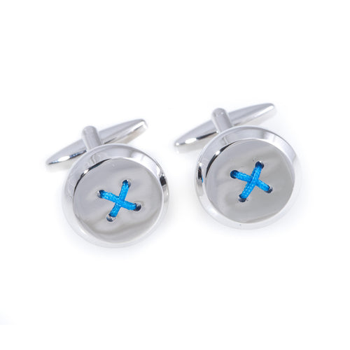 Blue Button Cufflinks