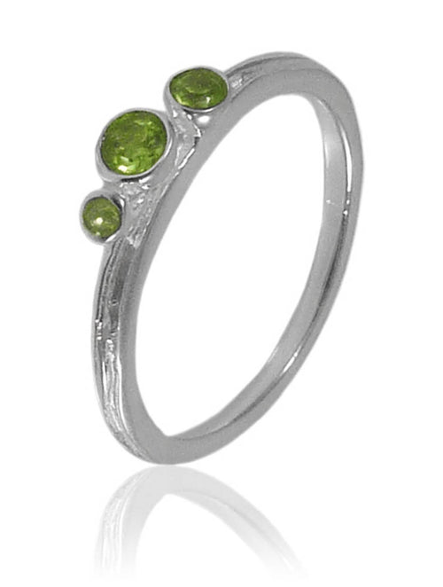 Amazon Three Stone Stacking Ring Peridot