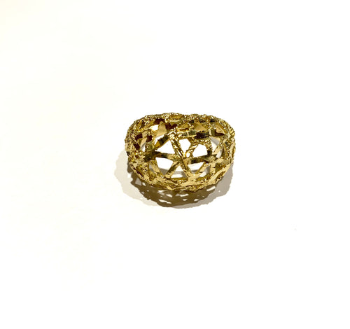 10k Gold Arabesque Dome Ring Size 7