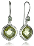 Capri Diagonal Earrings Lemon Topaz