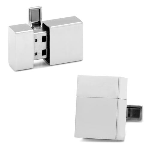Stainless Steel 16GB Cufflinks