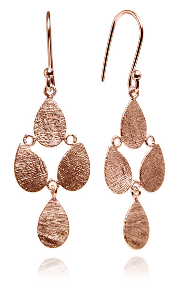 Rose Gold Plated Egyptian Raqs Sharqui Earrings