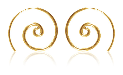 18K Gold Plated Small Concentric Swirl Earrings