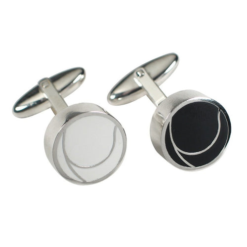 Black & White Swirl Cufflinks (Young Se Kim)