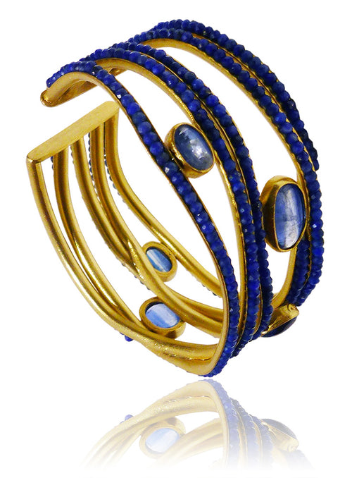Limited Edition Gaudi Cuff Lapis Lazuli and Kaynite