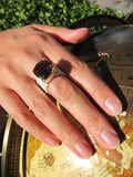 Italian Step Ladder with Stone Ring Smokey Quartz