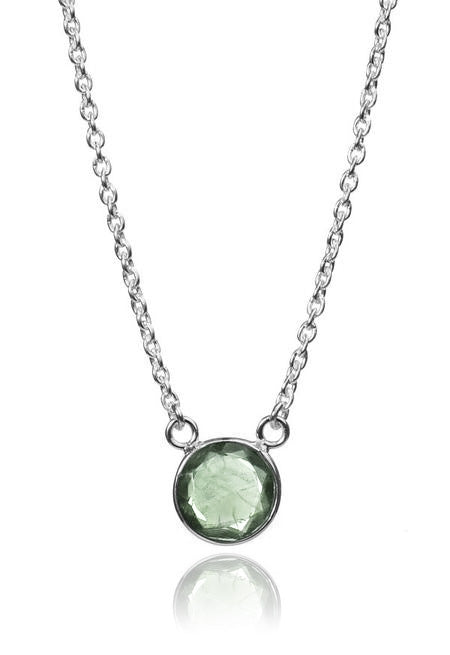 Puntino Necklace - GREEN AMETHYST
