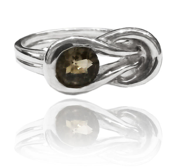 Zamalek Evil Eye Ring Smokey Quartz