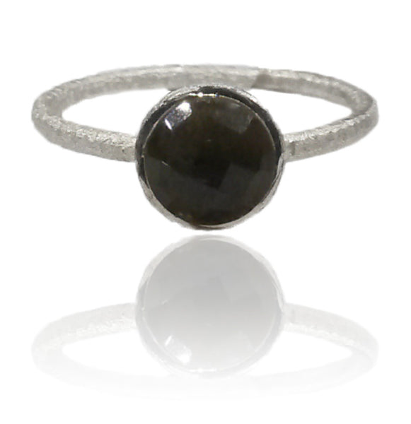 Capri Small Circle Ring Black Onyx