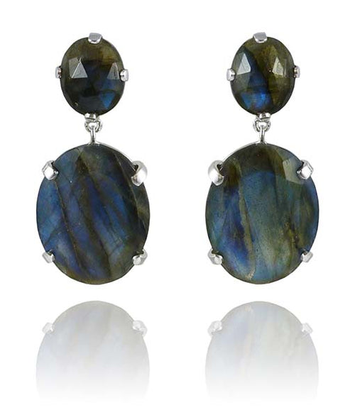 Ampla Eliptico Earrings Labradorite