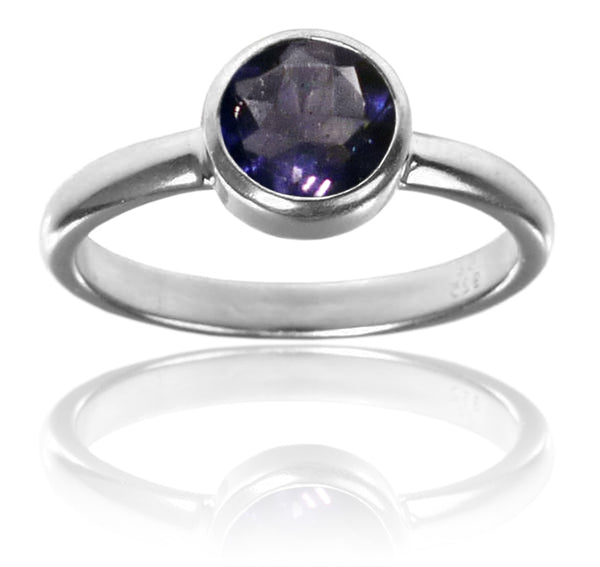 Stackable Jaipuri Circle Ring Iolite 6