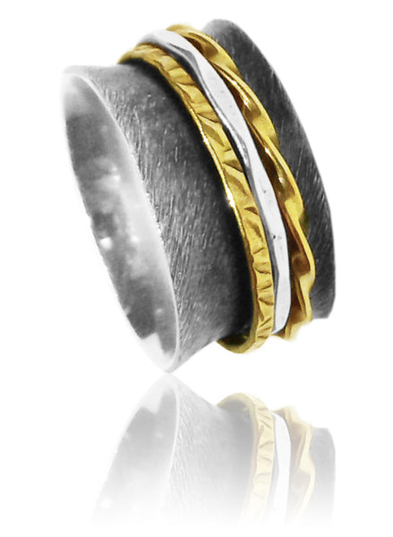 Tel Aviv Flared Spinner Ring 8