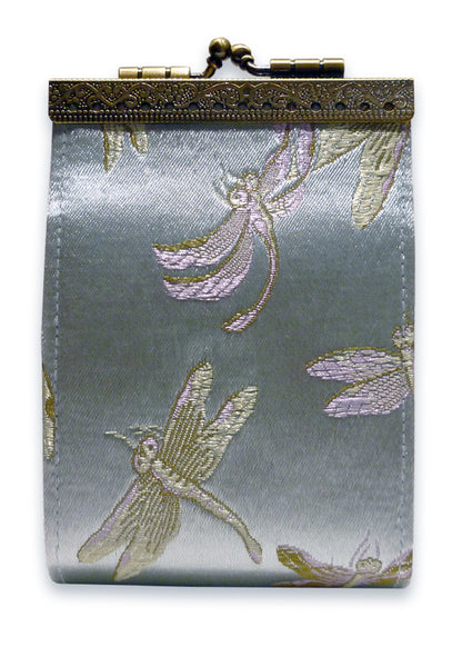 Cathayana Card Holder - RFID Light Blue Dragonfly