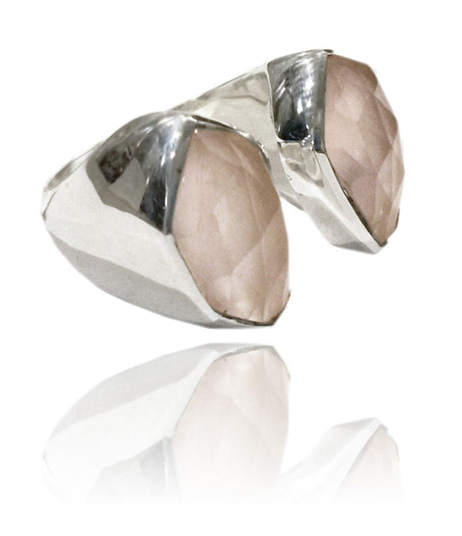 Glacier Ring Rose Quartz