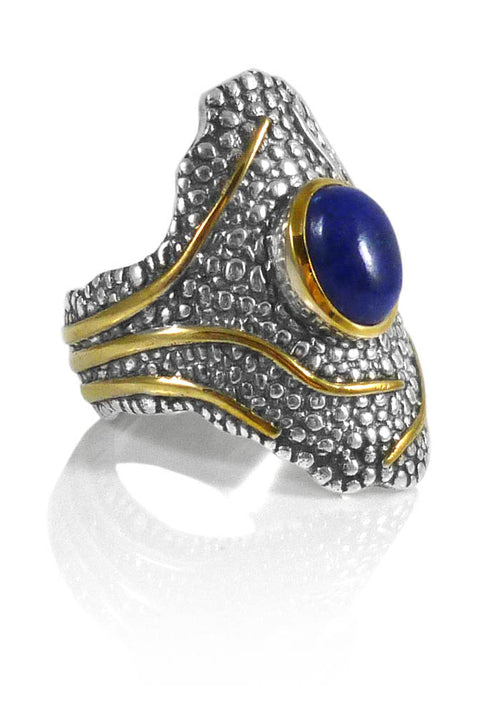 Jungle Trek Ring Lapis Lazuli