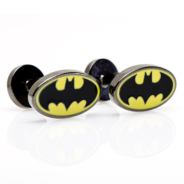 Enamel Oval Batman Logo Cufflinks