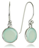 Puntino Earrings Aqua Chalcedony