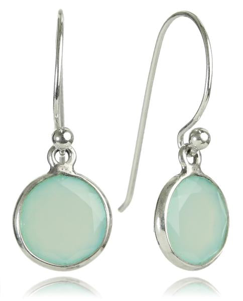 Hanging Puntino Earrings Aqua Chalcedony