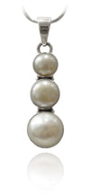 Triple Pearl Button Pendant