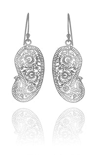 Matte Paisley Earrings (Small)