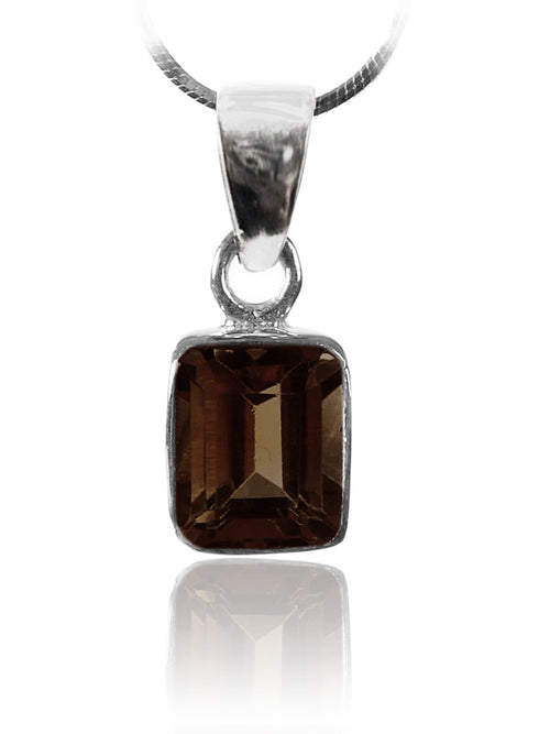 Small Rectangular Pendant Smokey Quartz
