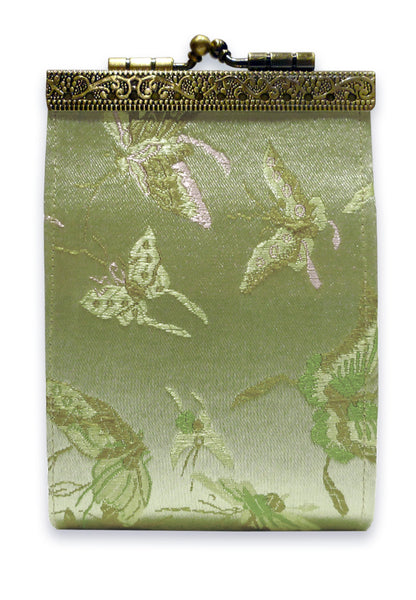 Cathayana Card Holder - RFID Light Green Butterfly