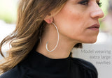 Brushed 18k Gold Plated Swirly Earrings