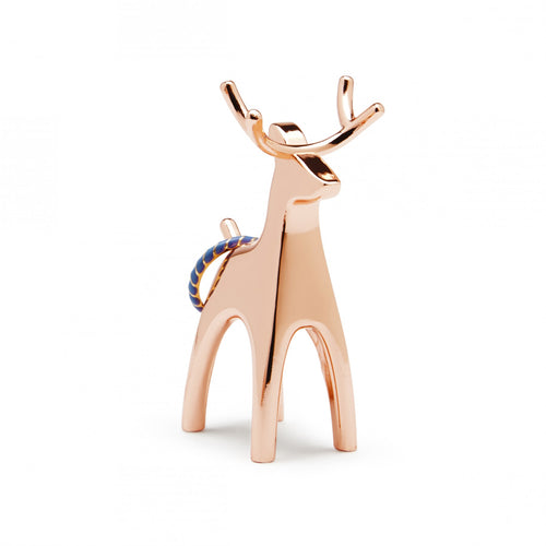 Copper Reindeer Ring Holder