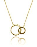 18K Gold Plated Gaudi Interlocking Necklace