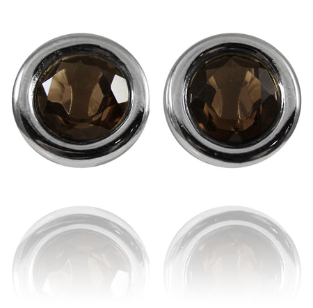 Arabesque Flower Cut Out Studs Black Onyx