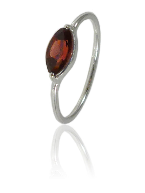 Amazon Stacking Leaf Ring Garnet
