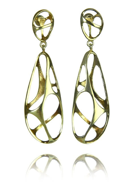 18K Gold Plated Bilbao Sculptured Drops