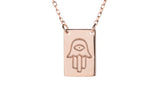ADJ Rectangle Hamsa Necklace