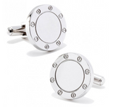 Stainless Steel Bolted Cufflinks