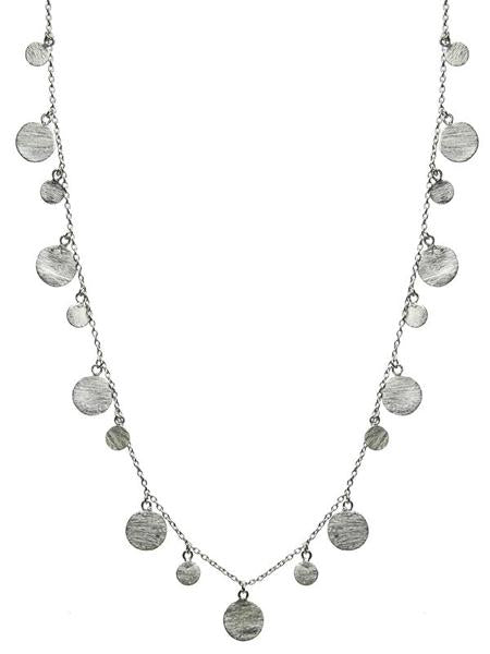 Art Deco Necklace with Brushed Discs
