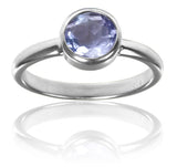 Stackable Jaipuri Circle Ring Amethyst