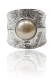 Leaf Amazon River Pearl Ring