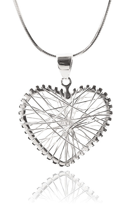 Small Criss Cross Heart Pendant