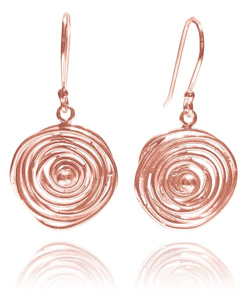 Rose Gold Plated Jalebi Earrings