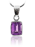 Small Rectangular Pendant Amethyst