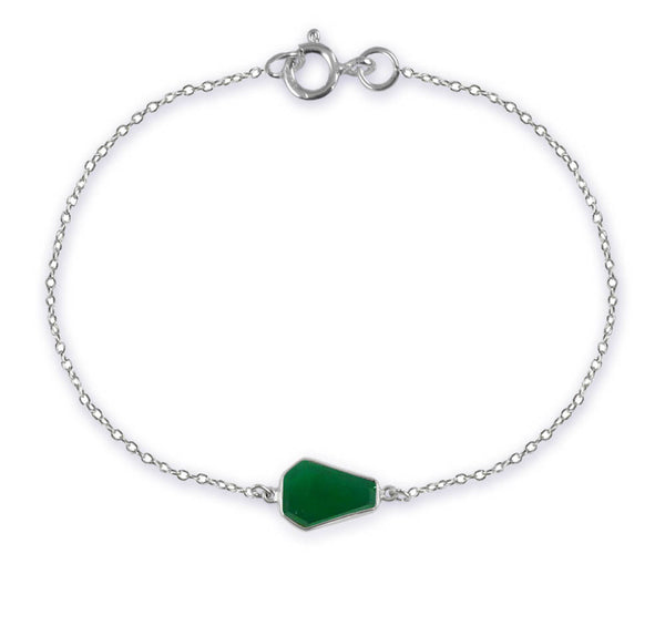 German Building Bracelet Green Onyx