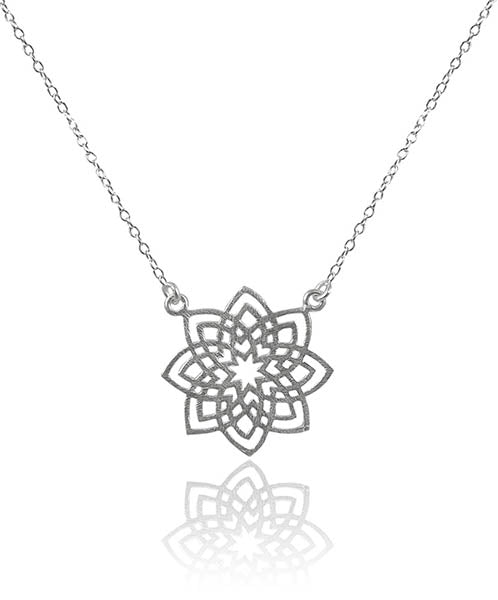 Medium Arabesque Flower Disc Necklace