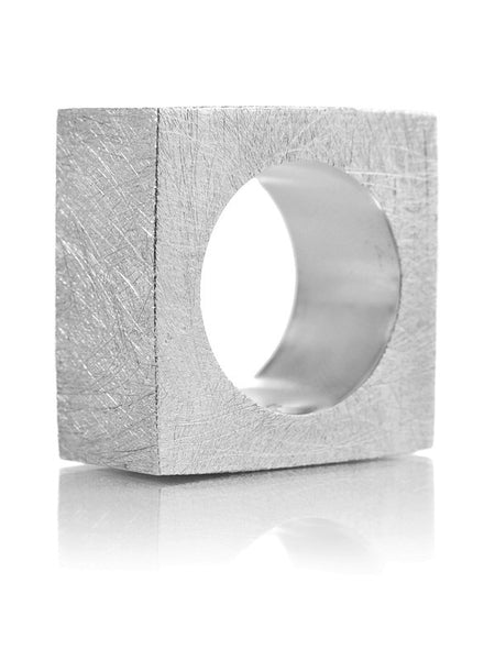 Thick Brushed Square Ring