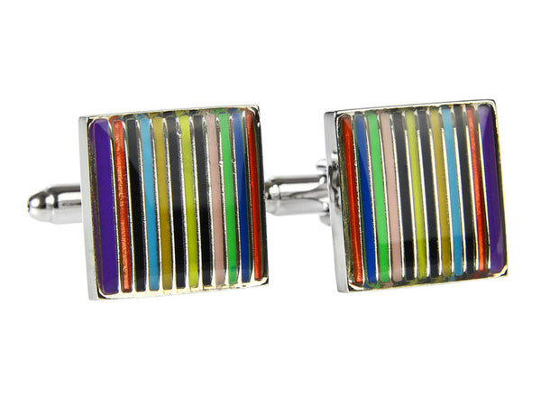 Colorful Stripes  (Stainless Steel Rhodium Plating)