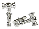Gavel Cufflinks (Stainless Steel)